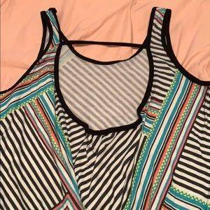 Colorful tank cropped top